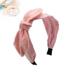 La oreja de conejo Hairband diadema lindos accesorios para el pelo para mujeres Chica pelo Secador de arcos
