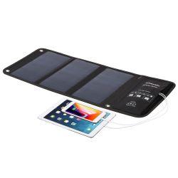 21W Sunpower USB dobrável DC Telefone Móvel Banco de Energia Solar Portátil Saco Carregador logotipo impresso