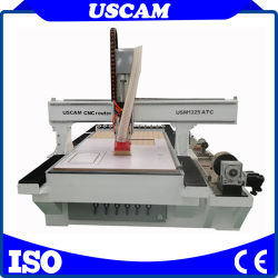 قرص خطي جهاز توجيه ATC CNC لأثاث الأبواب الخشبية خزائن الحفر بالقطع باستخدام عمود دوران تبريد الهواء لتغيير تلقائي للأدوات