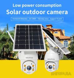 obbligazione standby lunga della videosorveglianza di video del comitato solare della scheda 1080P HD di 4G SIM del CCTV della macchina fotografica dell'audio allarme bidirezionale domestico astuto esterno di intrusione