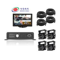 最高の GPS WiFi 3G 4G オプションの Ahd 1080p 4 カメラ 4ch 車載用 DVR