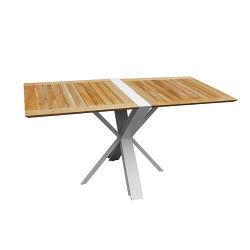 Muebles ocio plegado y la ampliación de la mesa de comedor al aire libre con la cima de madera