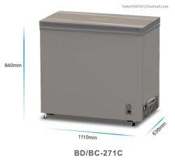 고품질 상단 개방형 싱글 도어 딥 홈 중고 슈퍼마켓 체스트 냉장고 냉동실 271L