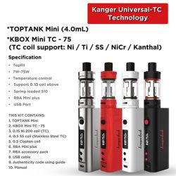 Оптовая торговля Kangertech Kanger Topbox мини-Vs Subox мини-испаритель