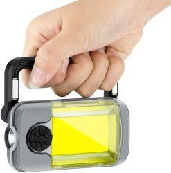 مصباح العمل المغناطيسي القابل لإعادة الشحن LED، ومصباح الإضاءة الغامرة المتنقل المزود بمصابيح التعتيم 4 أوضاع وقاعدة مغناطيسية قابلة للطي، وإضاءة موقع العمل لإصلاح السيارات