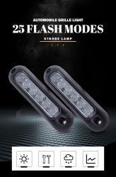 경고 섬광등 6 LED 18W 노면마운트 비상등 오프로드 차량, ATV SUV, 트럭