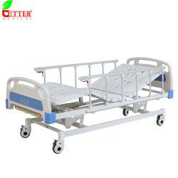 طبي مستخدم ثلاثي الوظيفة Hi-Lo سرير مريض مستشفى يدوي قابل للضبط مع [كسنس]