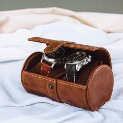 Eindeutiger personifizierter Arbeitsweg-Uhr-Kasten-Kasten mit Manschettenknopf-Kissen
