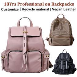 Sac à dos sac de toile de mode ordinateur de couches de voyage de camping en plein air Sport School femmes Mini ordinateur portable sacs à dos de randonnée imperméables personnalisé Designer sac à dos en cuir