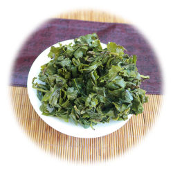 أوراق الشاي الأخضر من أولونج تغادر فوجيان الاتحاد الأوروبي أوولونج علامات الشاي تيجويانيين الرقاقة السائبة
