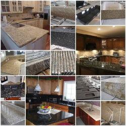 Prefabbricato giallo naturale/Rosso/Bianco/Nero/Grigio/Rosa/Verde/marrone/Beige/granito Blu/quarzo/marmo/pietra da cucina semi-preziosa
