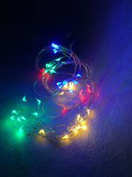 Décoration de Noël de fil de cuivre en forme de chaîne de lumière de la queue de cheval