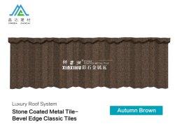 Novos materiais para a construção de pedra cor de calhaus rolados Solar decorativa revestidos Telhas Metálicas