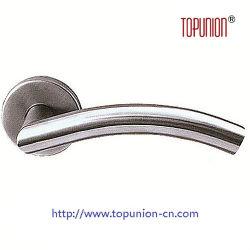 Elegante diseño del tubo de acero inoxidable 304 Empuñadura de puerta de la palanca (TLH012)