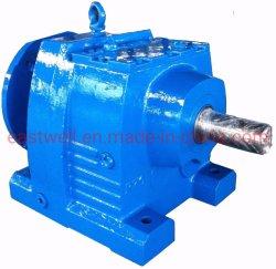 Scatola ingranaggi solida elicoidale a spirale smussata in-linea dell'asta cilindrica di serie della R, unità dell'attrezzo, riduttore di velocità, motore innestato,