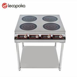 Douane Roestvrije 3500W 4 Apparatuur van het Restaurant van de Keuken van Branders de Professionele Elektro Industriële Nieuwe Commerciële Grote Kokende