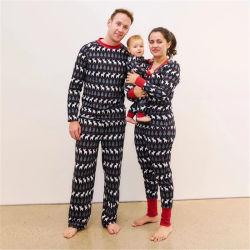 Nouveau Mode Jeu de Noël Parent-Child Housewear pyjama imprimé Ensemble 2 pièces