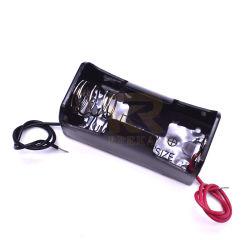 وحيدة [1.5ف] بلاستيكيّة [ك] خلية [بتّري هولدر] بطارية تخزين حالة صندوق مع سلك [لدس]
