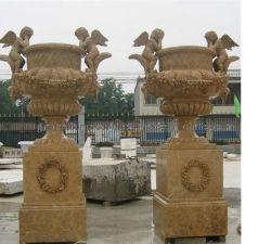 大理石手によって切り分けられる天使の壷(GS-FL-098)
