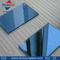 4-6mm coloré de gros de verre flotté réfléchissant bleu foncé pour décorer