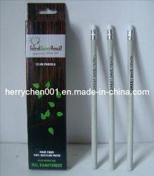 قلم رصاص ورقي حرفة معاد تدويره من خلال نصف إقامة مع ممحاة (Sky-805)