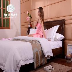 Пятизвездочный отель белый вышивка постельное белье, 100% хлопок одеяло из египетского хлопка крышку, постельное белье производителя