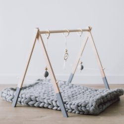 Attività palestra Gioca Mat Hanging Bar Baby Gym in legno
