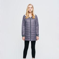 Logo personnalisé simple Automne Hiver vestes femelle vers le bas de coton vêtements matelassés femmes Slim occasionnel manteau chaud Manteaux