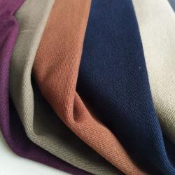Tessuto elastico della saia dello Spandex del cotone rifinito pesca per l'indumento degli uomini dei pantaloni e dei pantaloni del Mens