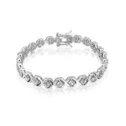 De fabriek de Directe Verkoop CZ Goud toenam plateerde Juwelen van de Armband van het Tennis van de Charme van 925 de Echte Zilveren Vrouwen van de Douane voor Vrouwen