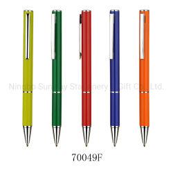 개별화된 회사 이름 인쇄 트위스트 액션 메탈 홍보용 볼펜