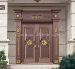Dekorative und Anti-Thift kupferne Sicherheits-Stahltür für Nigeria-Landhaus Zf-Ds-028