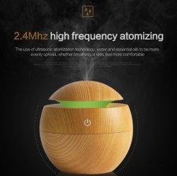 Du grain du bois au diffuseur avec 7, de lumière LED colorées d'arrêt automatique en mode réglable diffuseur d'aromathérapie pour bébé, Yoga, SPA, maison, le bureau