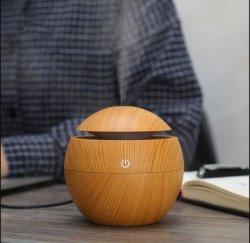 Purificateur d'air mini du grain du bois d'humidificateur Humidificateur USB Aroma Atomizer