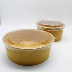 Conteneur alimentaire personnalisé en papier jetables pour une salade de fruits