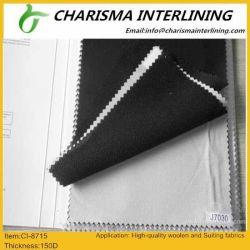 Rivestimento scrivente tra riga e riga di collegamento fusibile del commercio all'ingrosso/circolare 100% del poliestere del tessuto lavorato a maglia /Tube tessuto 150cm