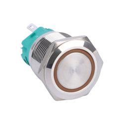 19mm 5axe lumineux à LED 12 V sur le bouton poussoir de l'interrupteur de verrouillage hors tension