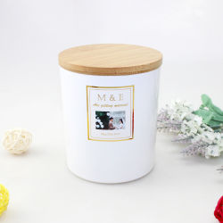 Qualitäts-Kerze-Glas-Großverkauf-Glaskerze-Behälter mit hölzernen Kappen
