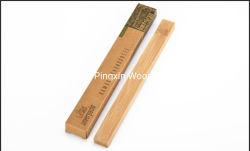 La Chine la vente en gros fournisseur de matières premières plat carré Appuyez sur la poignée de brosse à dents de bambou