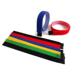 Adhesivo de doble cara de la magia de la correa de Velcro de sujeción de cables de cinta