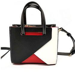 Классический моды Three-Color Пэтчворк дамы сумочку PU сумки через плечо