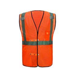 Verkeersveiligheid die het Standaard Hoge Vest van de Veiligheid van de Slijtage van het Werk van het Zicht Weerspiegelende kleden