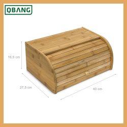 Cocina Caja de pan 100% de la caja de almacenamiento de bambú
