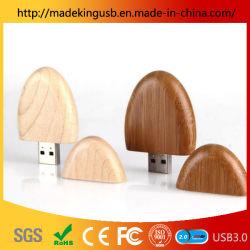 Aangepaste Diverse Houten Ovale Schijf van het Geheugen USB/de Houten Aandrijving van de Flits USB