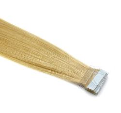 شعر عذري ناعم كالحرير ملوّن شقراء 8-30 بوصة الشريط البرازيلي الشعر تمديده الشعر ريمي