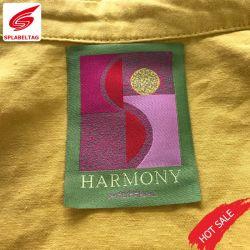 Katoenen van de Kwaliteit van de Kleding van de Toebehoren van het Kledingstuk van China het Beste Geweven Etiket van de Polyester Textiel