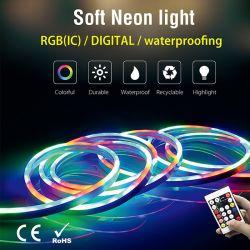 Controle remoto Neon flexível impermeável Luzes Tiktok RGB