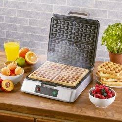 Elektrische 4-slice diepe vulling wafel Belgium Maker