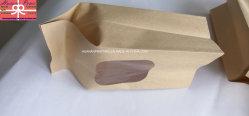 Papel Kraft com janela grande bolsa de pacote