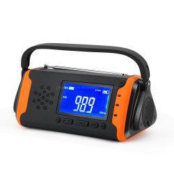 휴대용 재충전용 디지털 태양 크랭크 AM FM 라디오